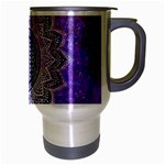 Flower Of Life Indian Ornaments Mandala Universe Travel Mug (Silver Gray) Right