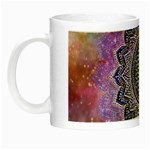 Flower Of Life Indian Ornaments Mandala Universe Night Luminous Mugs Left