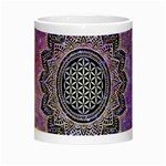 Flower Of Life Indian Ornaments Mandala Universe Night Luminous Mugs Center