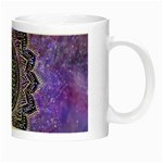 Flower Of Life Indian Ornaments Mandala Universe Night Luminous Mugs Right