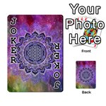 Flower Of Life Indian Ornaments Mandala Universe Playing Cards 54 Designs  Front - Joker1