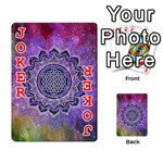 Flower Of Life Indian Ornaments Mandala Universe Playing Cards 54 Designs  Front - Joker2