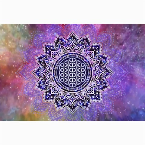Flower Of Life Indian Ornaments Mandala Universe Collage Prints