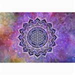 Flower Of Life Indian Ornaments Mandala Universe Collage Prints 18 x12 Print - 2