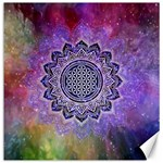 Flower Of Life Indian Ornaments Mandala Universe Canvas 12  x 12   12 x12 Canvas - 1