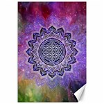 Flower Of Life Indian Ornaments Mandala Universe Canvas 12  x 18   18 x12 Canvas - 1