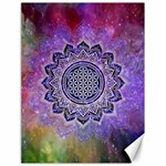 Flower Of Life Indian Ornaments Mandala Universe Canvas 18  x 24   24 x18 Canvas - 1