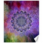 Flower Of Life Indian Ornaments Mandala Universe Canvas 20  x 24   24 x20 Canvas - 1