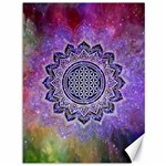 Flower Of Life Indian Ornaments Mandala Universe Canvas 36  x 48   48 x36 Canvas - 1