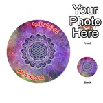 Flower Of Life Indian Ornaments Mandala Universe Playing Cards 54 (Round)  Front - Joker2