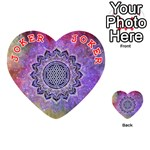 Flower Of Life Indian Ornaments Mandala Universe Playing Cards 54 (Heart)  Front - Joker2