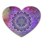 Flower Of Life Indian Ornaments Mandala Universe Heart Mousepads Front