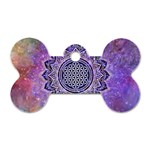 Flower Of Life Indian Ornaments Mandala Universe Dog Tag Bone (Two Sides) Front