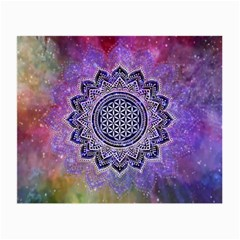 Flower Of Life Indian Ornaments Mandala Universe Small Glasses Cloth (2 Side)