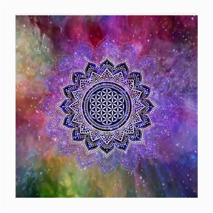Flower Of Life Indian Ornaments Mandala Universe Medium Glasses Cloth