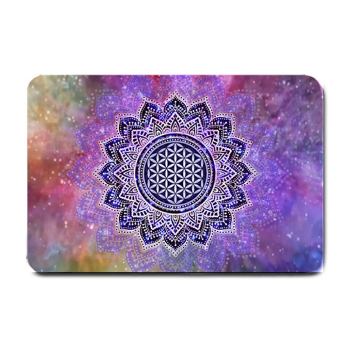 Flower Of Life Indian Ornaments Mandala Universe Small Doormat