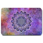Flower Of Life Indian Ornaments Mandala Universe Large Doormat  30 x20 Door Mat - 1