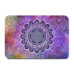 Flower Of Life Indian Ornaments Mandala Universe Plate Mats 18 x12 Plate Mat - 1