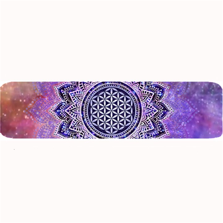 Flower Of Life Indian Ornaments Mandala Universe Large Bar Mats
