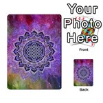 Flower Of Life Indian Ornaments Mandala Universe Multi-purpose Cards (Rectangle)  Back 33