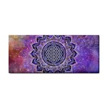 Flower Of Life Indian Ornaments Mandala Universe Hand Towel Front