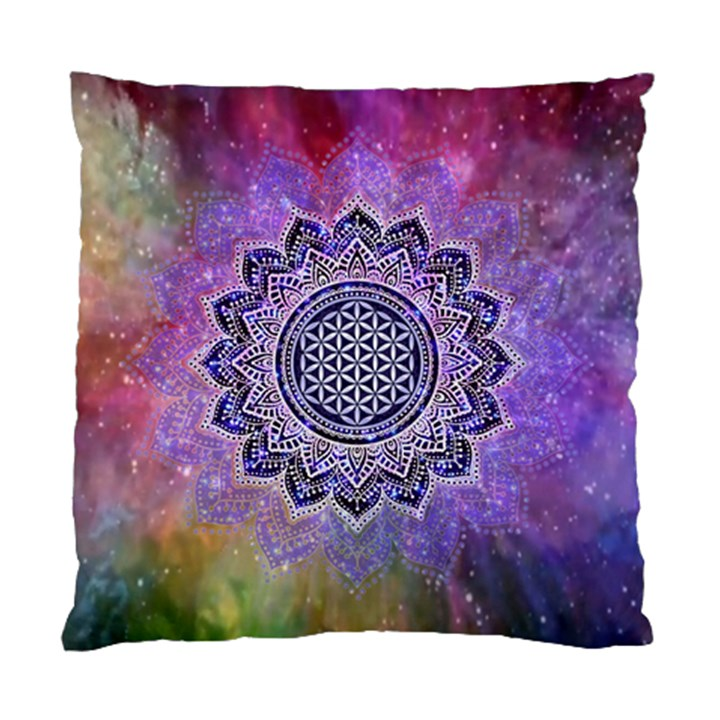 Flower Of Life Indian Ornaments Mandala Universe Standard Cushion Case (Two Sides)