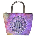 Flower Of Life Indian Ornaments Mandala Universe Bucket Bags Front