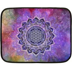 Flower Of Life Indian Ornaments Mandala Universe Fleece Blanket (mini)