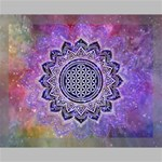 Flower Of Life Indian Ornaments Mandala Universe Canvas 14  x 11  14  x 11  x 0.875  Stretched Canvas