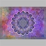Flower Of Life Indian Ornaments Mandala Universe Canvas 18  x 12  18  x 12  x 0.875  Stretched Canvas