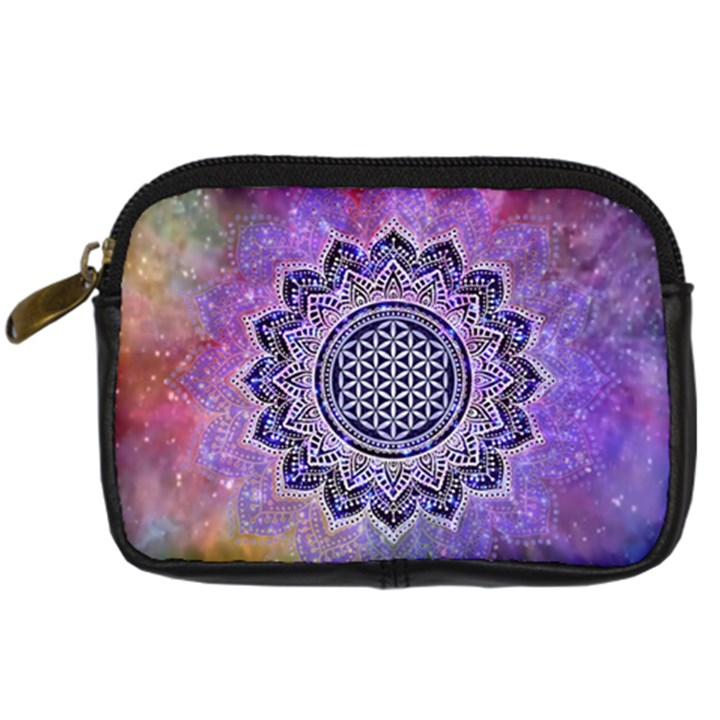 Flower Of Life Indian Ornaments Mandala Universe Digital Camera Cases