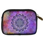Flower Of Life Indian Ornaments Mandala Universe Digital Camera Cases Back