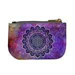 Flower Of Life Indian Ornaments Mandala Universe Mini Coin Purses Back