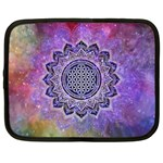 Flower Of Life Indian Ornaments Mandala Universe Netbook Case (XL)  Front