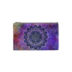 Flower Of Life Indian Ornaments Mandala Universe Cosmetic Bag (Small)