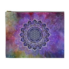 Flower Of Life Indian Ornaments Mandala Universe Cosmetic Bag (xl)