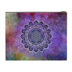 Flower Of Life Indian Ornaments Mandala Universe Cosmetic Bag (XL) Back
