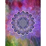 Flower Of Life Indian Ornaments Mandala Universe Large Memo Pads 4.125 x5.5  Memopad