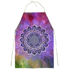 Flower Of Life Indian Ornaments Mandala Universe Full Print Aprons