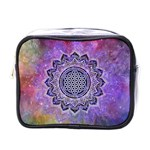 Flower Of Life Indian Ornaments Mandala Universe Mini Toiletries Bags Front