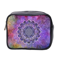 Flower Of Life Indian Ornaments Mandala Universe Mini Toiletries Bag 2 Side