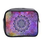 Flower Of Life Indian Ornaments Mandala Universe Mini Toiletries Bag 2-Side Back