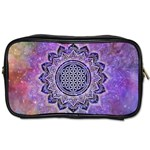Flower Of Life Indian Ornaments Mandala Universe Toiletries Bags Front