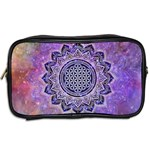 Flower Of Life Indian Ornaments Mandala Universe Toiletries Bags 2-Side Back