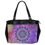 Flower Of Life Indian Ornaments Mandala Universe Office Handbags (2 Sides)  Front