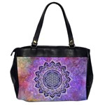 Flower Of Life Indian Ornaments Mandala Universe Office Handbags (2 Sides)  Back