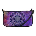 Flower Of Life Indian Ornaments Mandala Universe Shoulder Clutch Bags Front