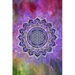 Flower Of Life Indian Ornaments Mandala Universe 5.5  x 8.5  Notebooks Back Cover
