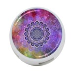 Flower Of Life Indian Ornaments Mandala Universe 4-Port USB Hub (One Side) Front