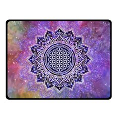 Flower Of Life Indian Ornaments Mandala Universe Fleece Blanket (Small)